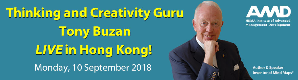 Developing a Creative Mindset in the Disruptive Economy by Prof Tony Buzan (10 September 2018)